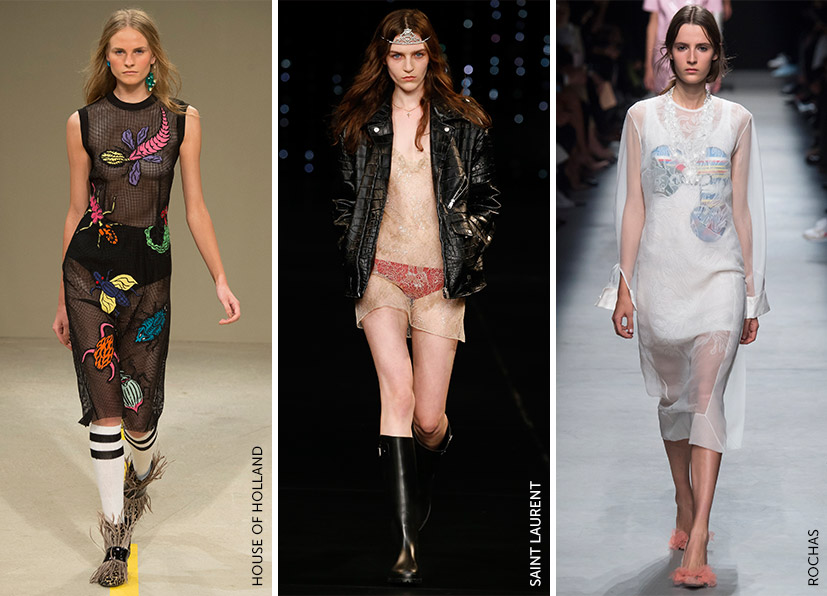 Trend Callout: Sheer House of Holland Saint Laurent Rochas