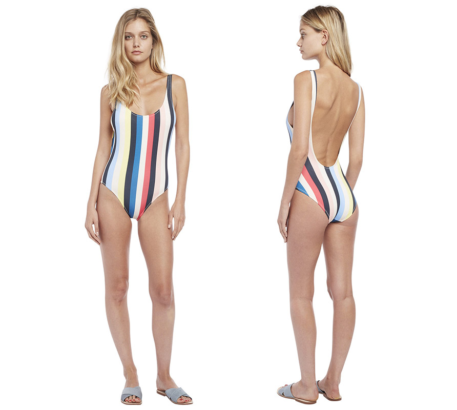 Solid And Striped The Anne-Marie Pastel Stripes Frong
