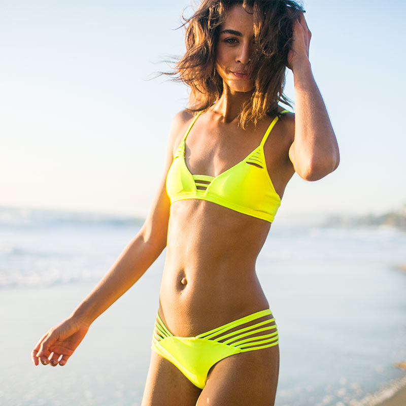 Yellow bikini from Issa De' Mar