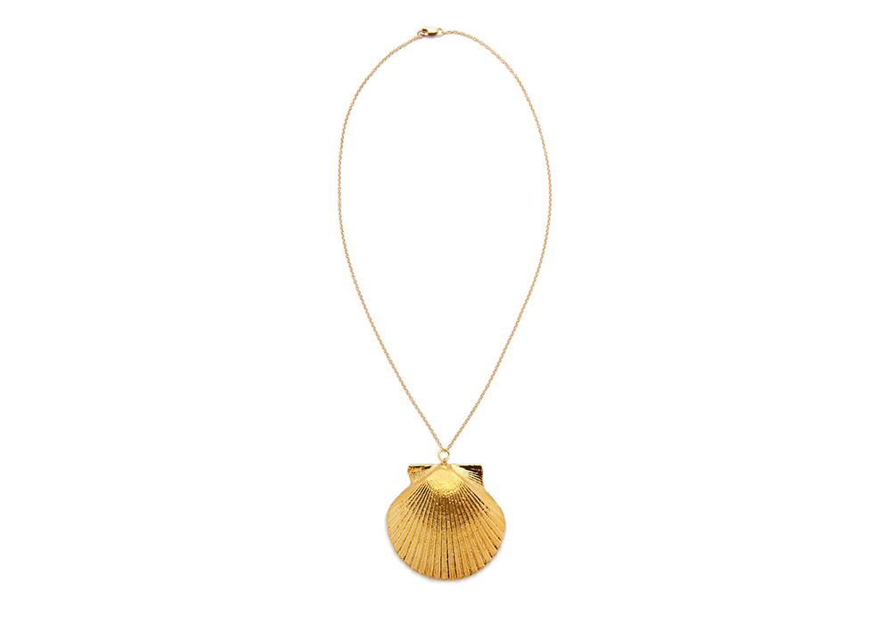 Sea Dipped Real Scallop Shell Necklace