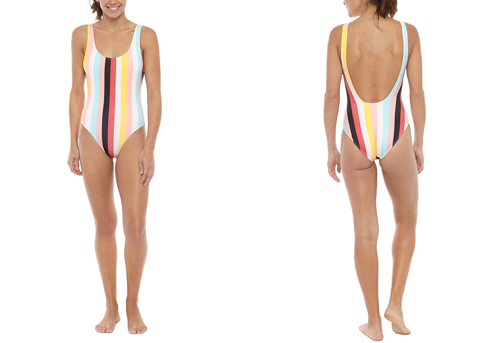 Solid & Striped The Anne Marie One Piece Multi Stripe