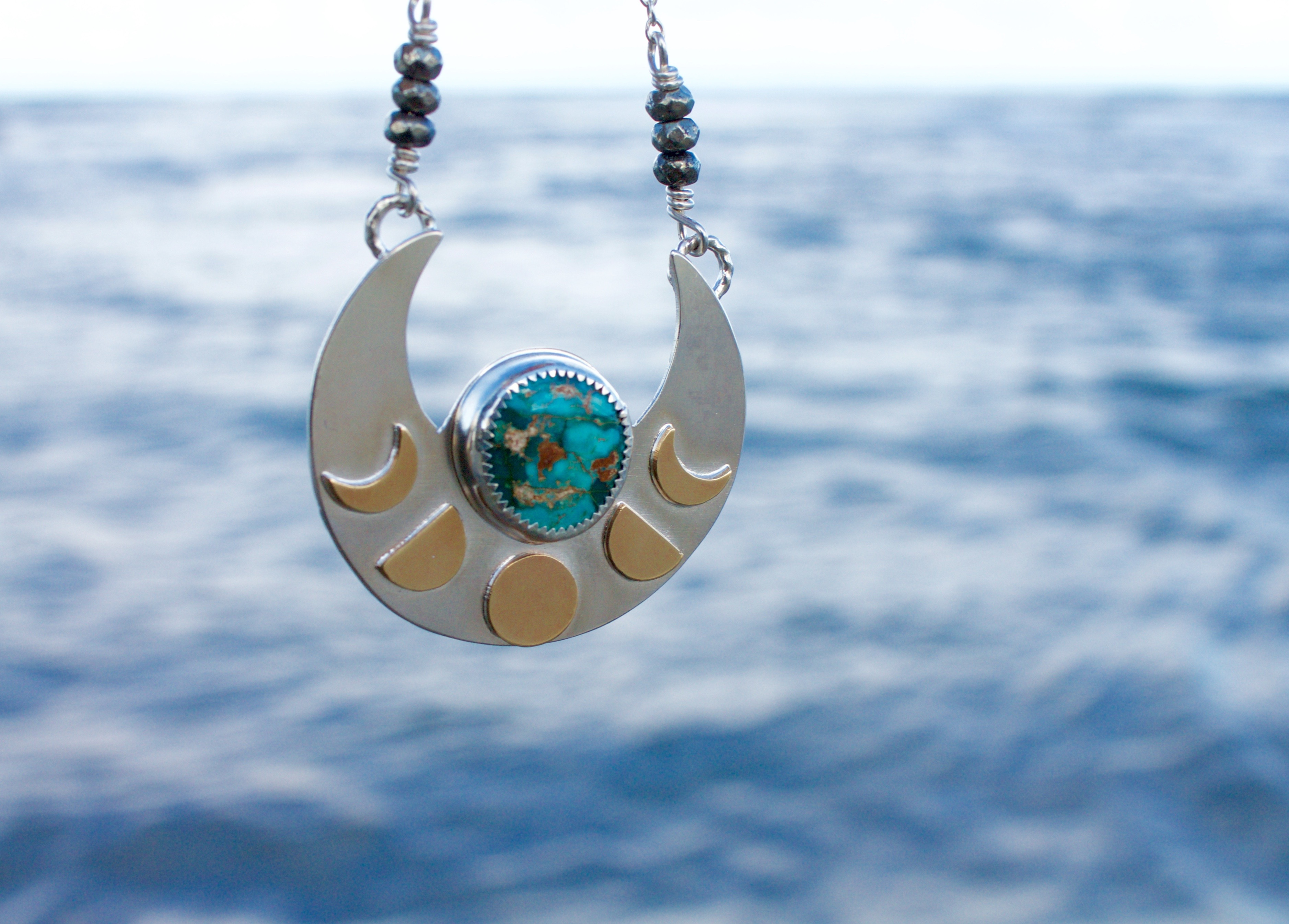 mermaid by hand necklace