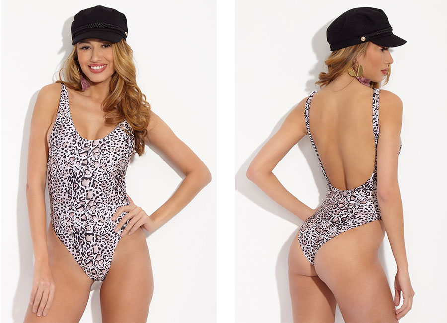 Rove Ryan One Piece Swimsuit Leopard Print Animal Print