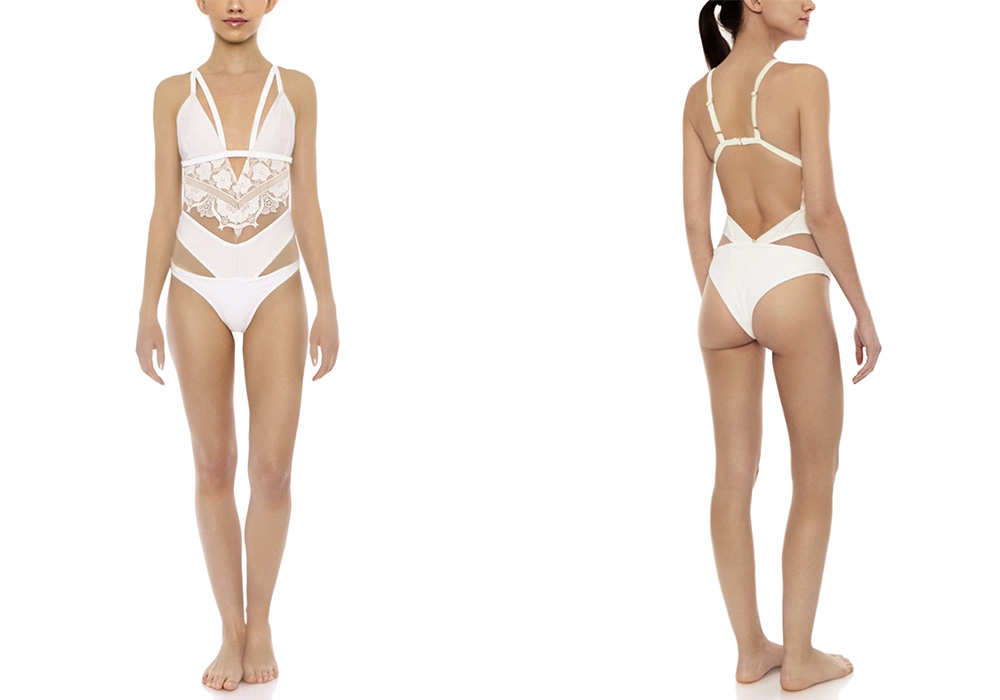 For Love & Lemons Grenada Lace One Piece