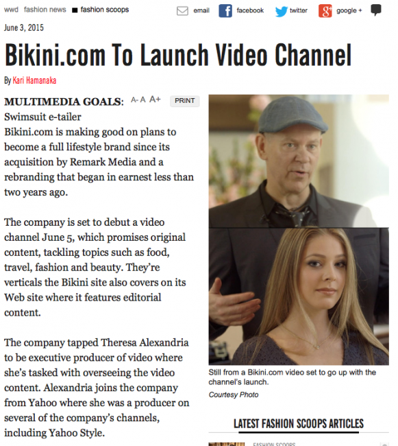bikini.com launching video channel