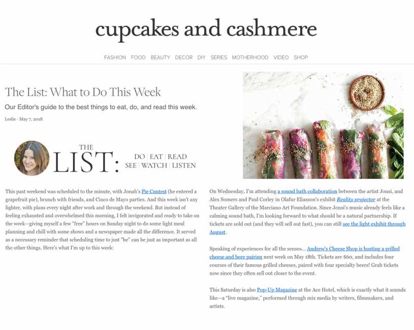 YES, YOU CAN MAKE THESE GORGEOUS SUMMER ROLLS Editorial Article featured on Cupcakes and Cashmere