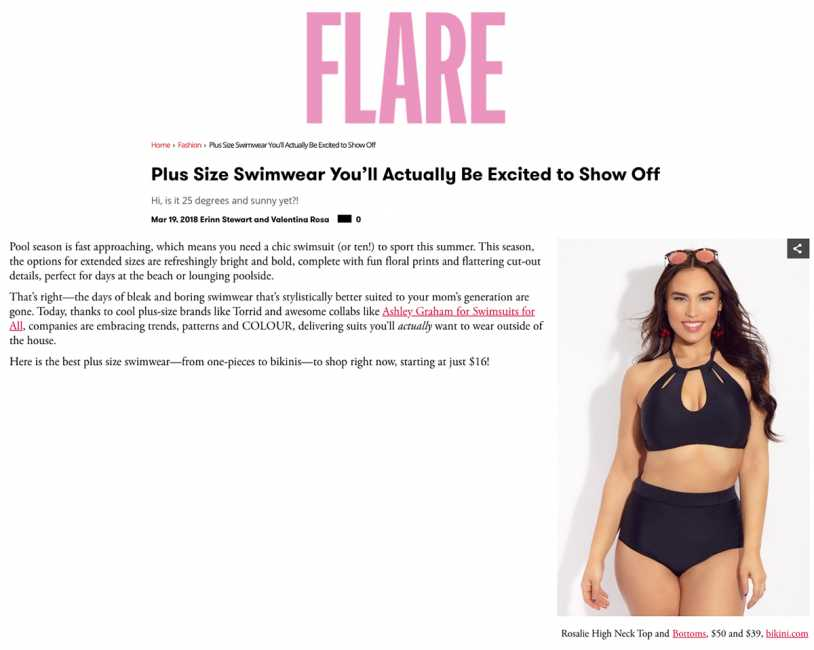 RAISINS CURVE ROSALIE HIGH NECK TOP & ISLAND PANT Featured in FLARE Magazine