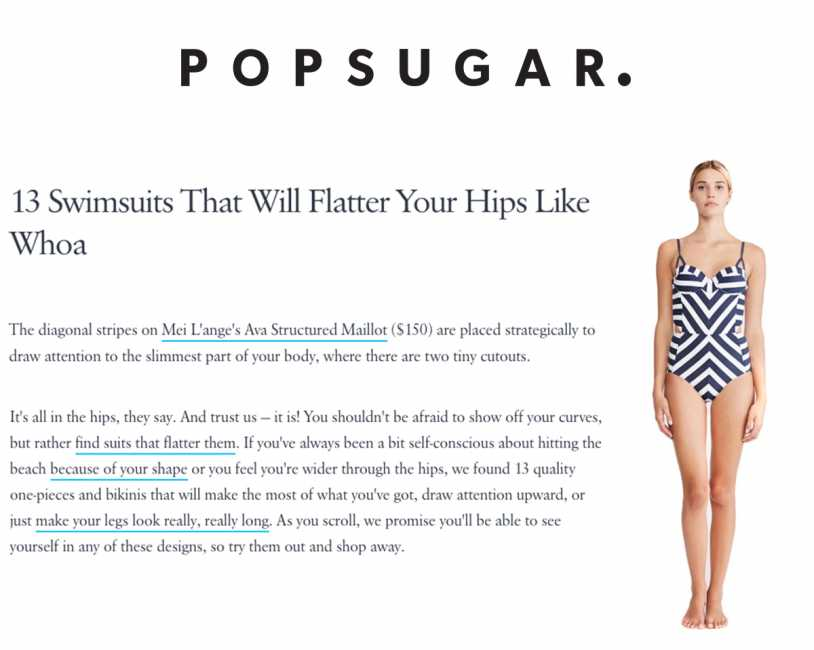 Mei L'ange's Ava Structured Maillot One Piece Featured on Popsugar. Fashion
