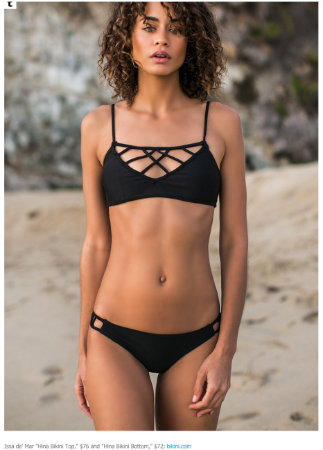 "Issa de' Mar ""Hina Bikini Top,"" $76 and ""Hina Bikini Bottom,"" The Outfit"