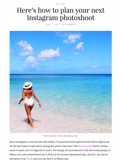 Here's how to plan your next Instagram photoshoot Tavik Monahan One Piece featured on Living With The Travel Bug