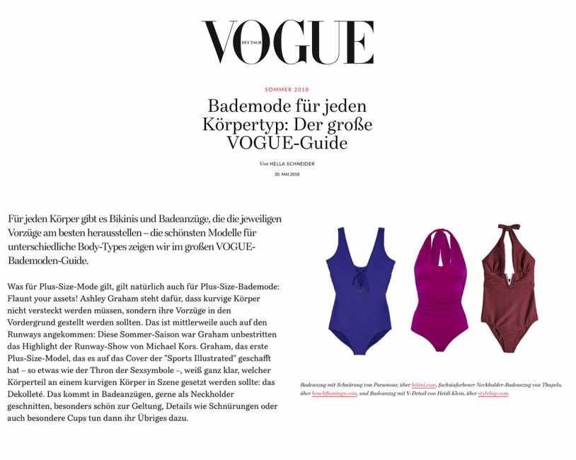 PARAMOUR SWIMWEAR JISOO LACE UP ONE PIECE SWIMSUIT Featured on Vogue Germany Online Magazine